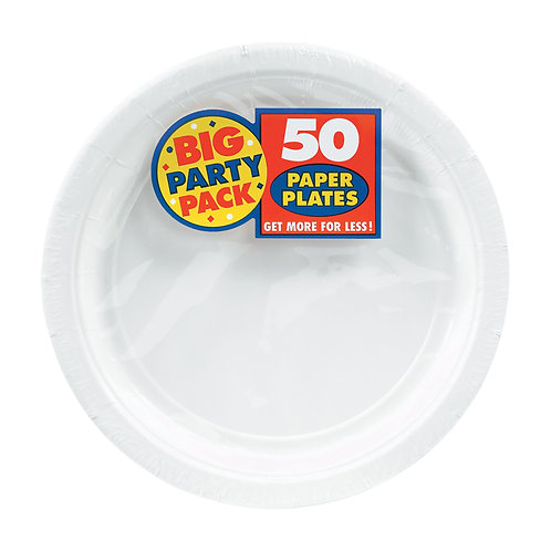 White 7in Paper Plates 50ct