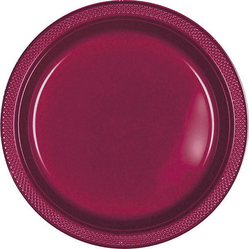 Berry 10in Plastic Plates 20ct
