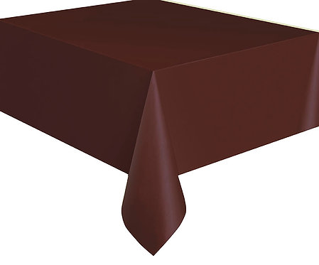 "Brown Rectangular Plastic Table Cover 54""x108"""