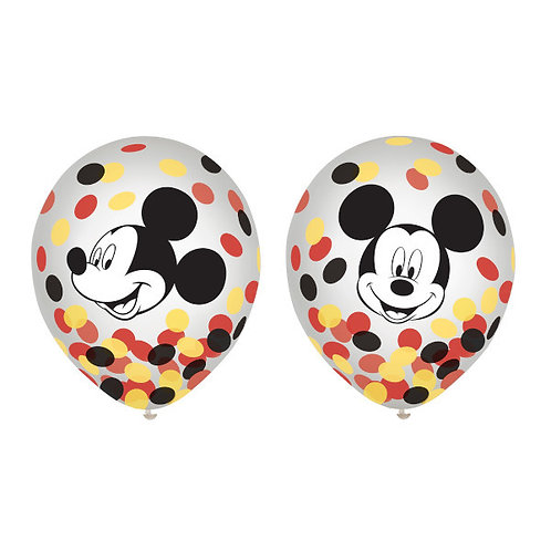 Mickey Mouse Forever Latex Confetti Balloons 6ct