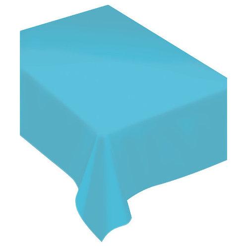 Caribbean Blue Fabric Tablecloth