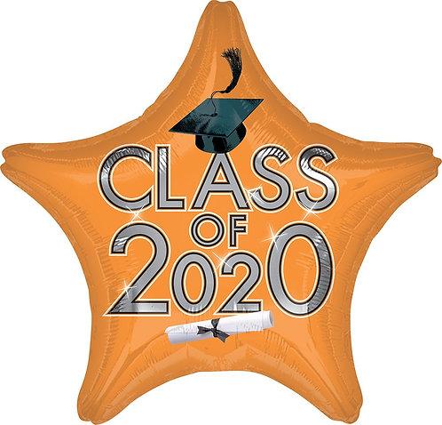 #G28 Class Of 2020 Orange 18in Mylar Balloon