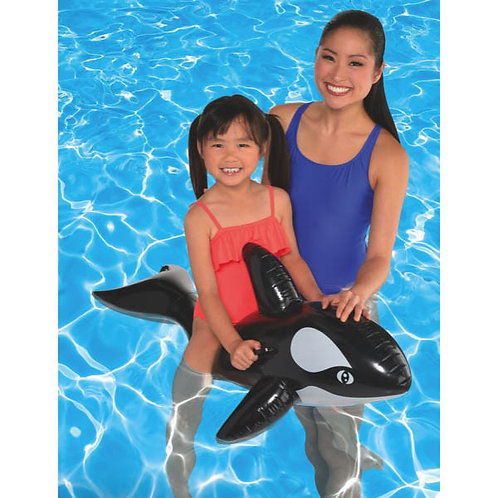Whale Ride-on Inflatable Pool Toy 51in
