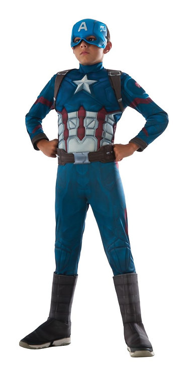 Child Captain America Deluxe Muscle Costume