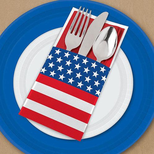Patriotic Cutlery Holder 12ct