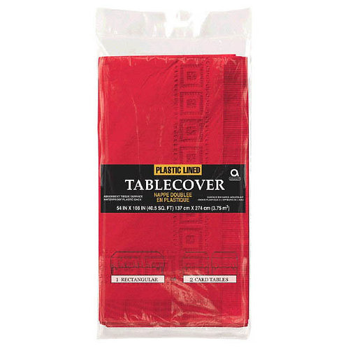 """Red Paper Table Cover 54"""" x 108"""""""