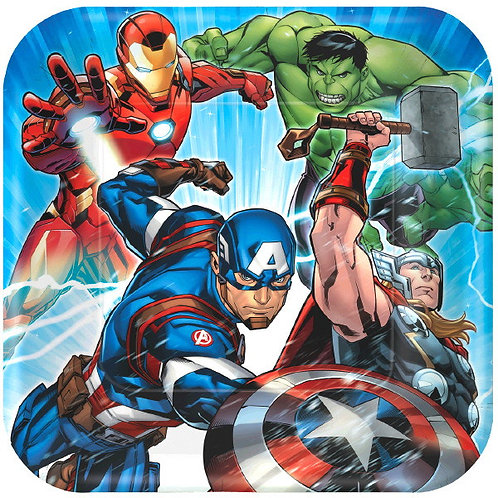 Marvel Epic Avengers Lunch Plates 8ct