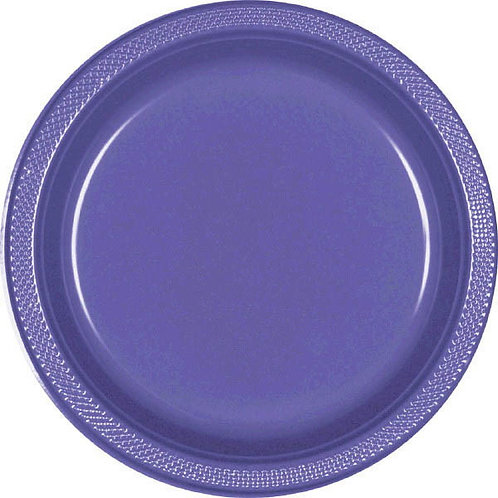 Purple 7in Plastic Plates 20ct
