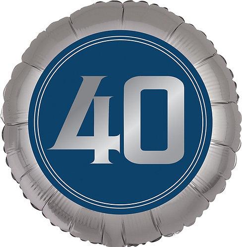 #369 Happy Birthday Man 40 18in Balloon
