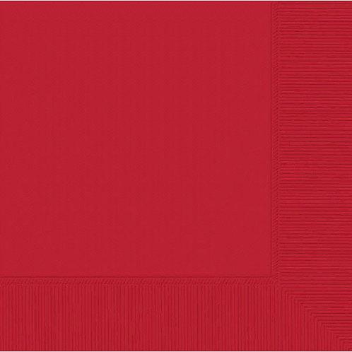 Red Beverage Napkins 50ct