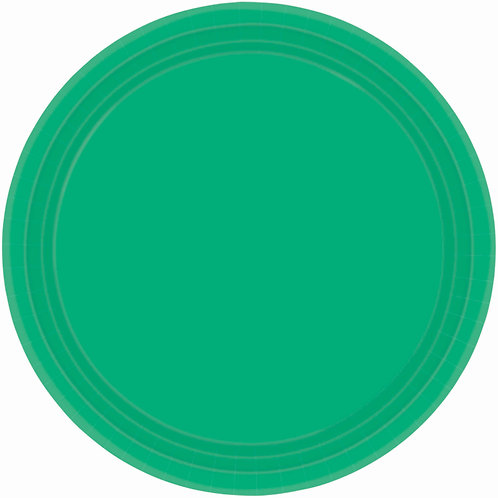 Green 7in Paper Plates 20ct
