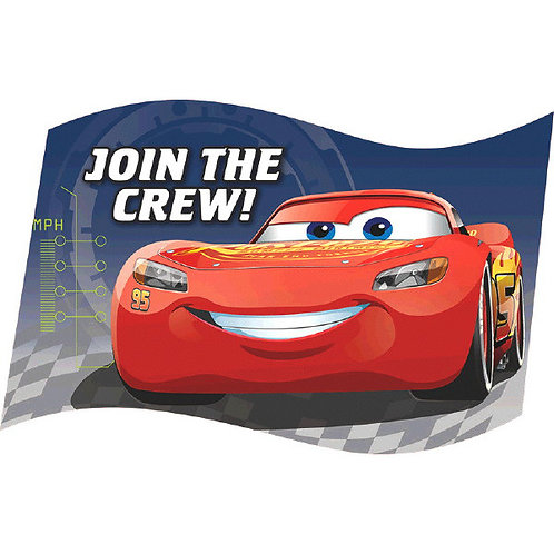 CARS 3 Postcard Invitations 8ct
