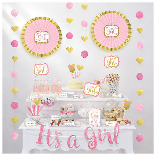 Baby Shower Buffet Decorating Kit - Girl