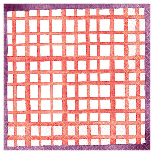 Pantone Grid Lunch Napkins - 16ct