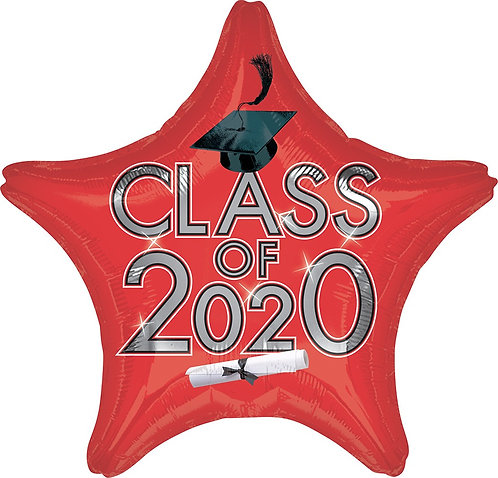 #G23 Class Of 2020 Red 18in Mylar Balloon