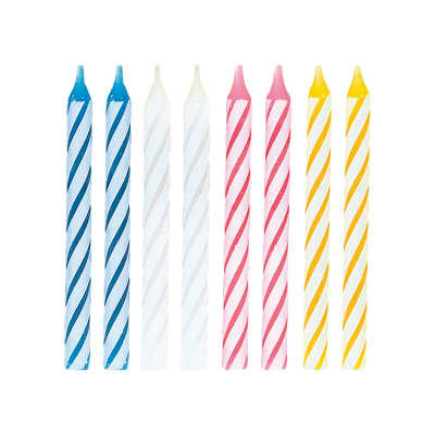 Assorted Spiral Candles 24ct