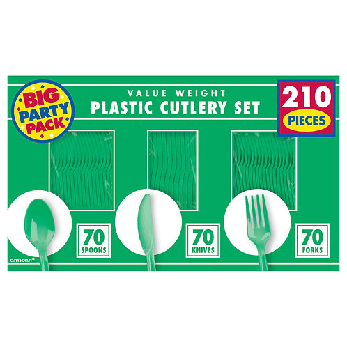Green Value Cutlery Set 210ct