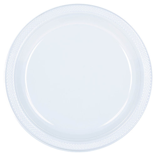Clear 10in Plastic Plates 20ct