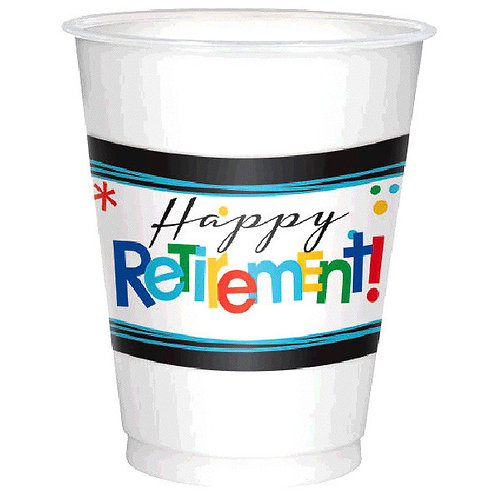 Officially Retired 16oz Plastic Cups 25ct
