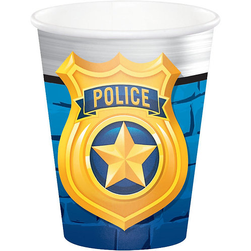 Police Party Paper Cups 8ct