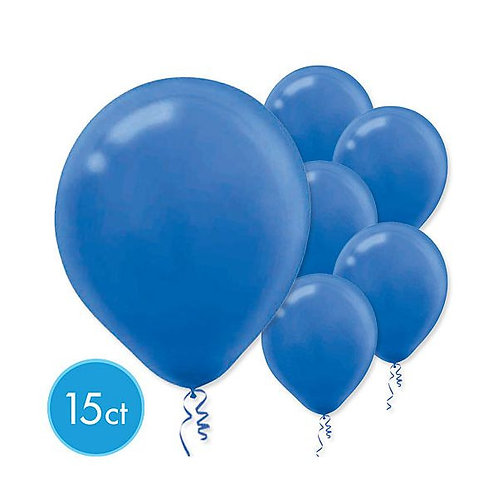 Royal Blue Latex Balloons - Packaged, 15ct