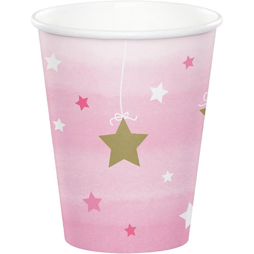 One Little Star Girl Paper Cups 8ct