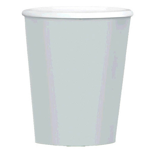 Silver 12oz Paper Coffee Cups 40ct