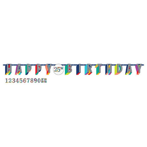Here's To Your Birthday Jumbo Add-An-Age Letter Banner