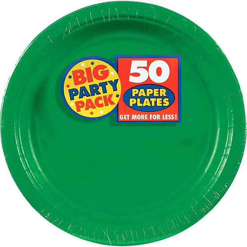 Green 9in Paper Plates 50ct