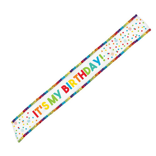 Birthday Celebration Fabric Sash