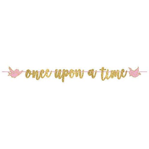 Disney Princess Glitter Ribbon Letter Banner