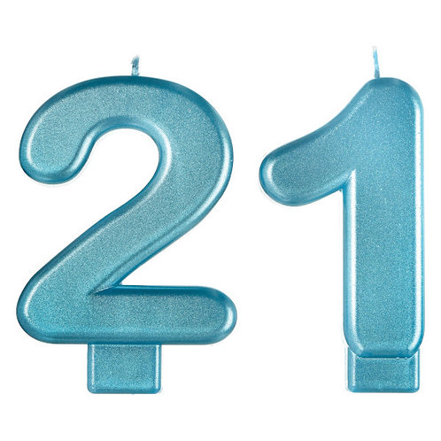 Finally 21 Numeral Candles