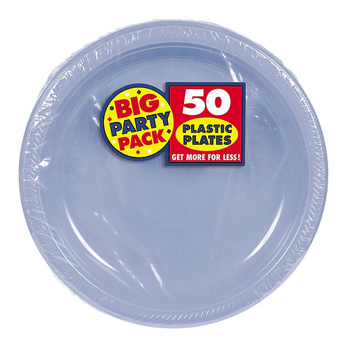 Light Blue 7in Plastic Plates 50ct