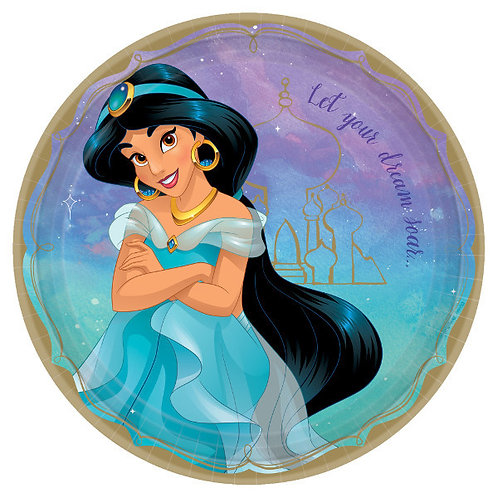 Disney Princess Lunch Plates 8ct - Jasmine