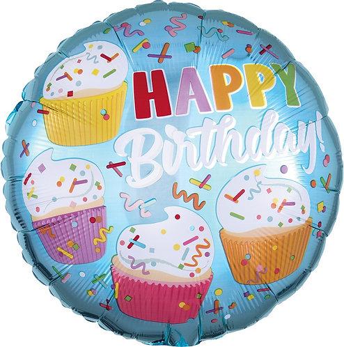 #334 Cupcake Fun 18in Balloon