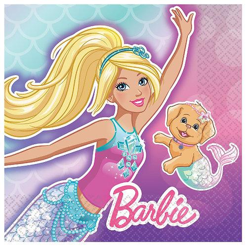 Barbie Mermaid Beverage Napkins 16ct