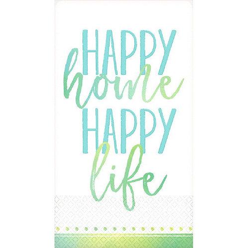 Guest Towel - Happy Home, Happy Life 16ct