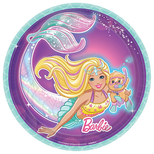 Barbie Mermaid Dessert Plates 8ct