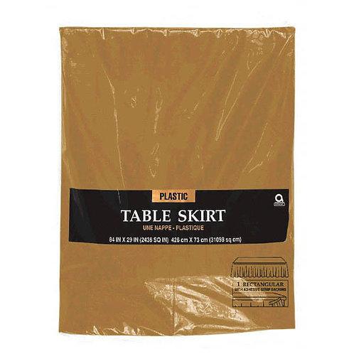 Gold Plastic Table Skirt