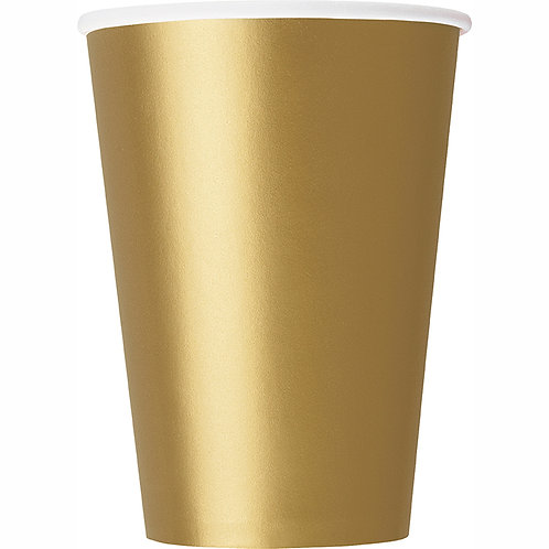 Gold 9oz Paper Cups 14ct