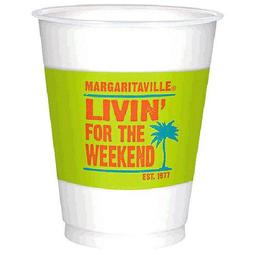 Margaritaville Printed Plastic 16oz Cups 25ct