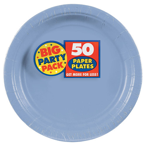 Light Blue 9in Paper Plates 50ct