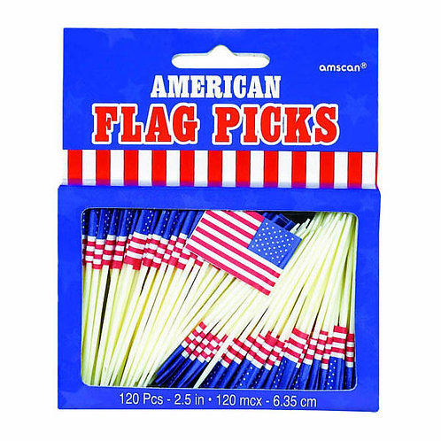 American Flag Picks 120ct