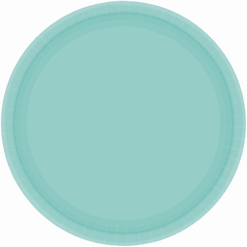 Robins Egg Blue 9in Paper Plates 20ct
