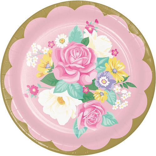 Floral Tea Party Lunch Plates 8ct