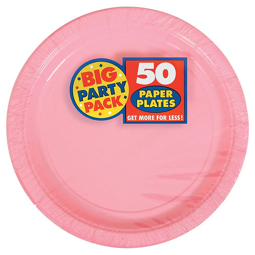 Pink 9in Paper Plates 50ct