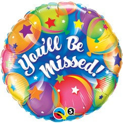 #503 You Will Be Missed 18in Mylar Balloon