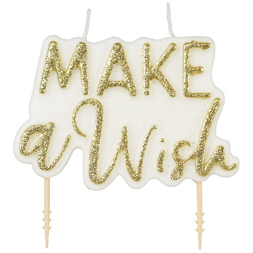 Make A Wish Plaque Candle