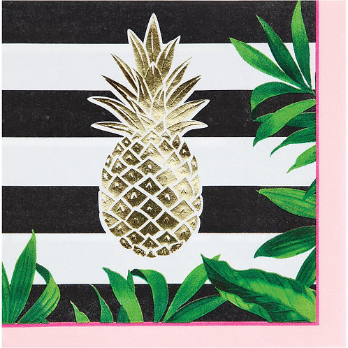 Gold Pineapple Lunch Napkins 16ct