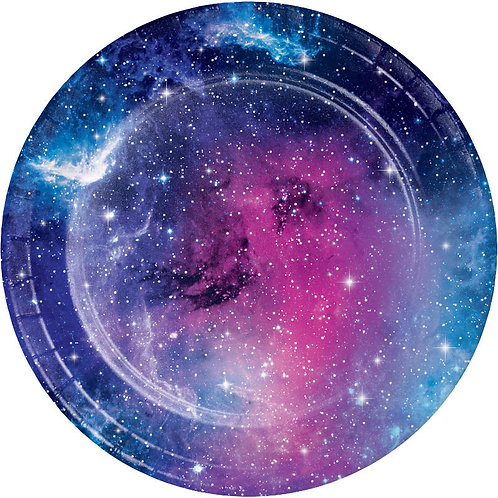 Galaxy Party Dessert Plates 8ct
